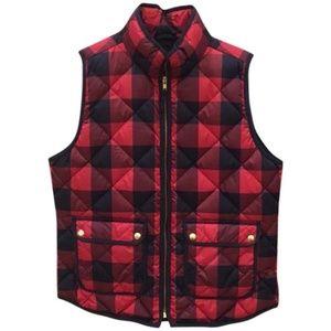 J. Crew red and black vest